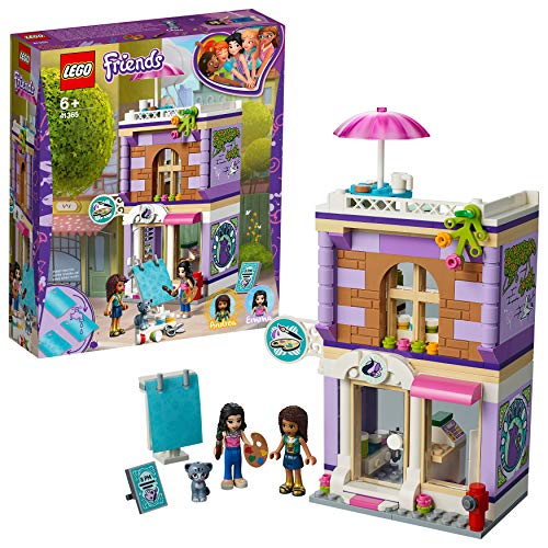 LEGO 41365 Friends Emma's Art Studio Playset, Emma mini-doll Cat Figure and Accessories, Build and Play Toys for Kids Best Price and Cheapest