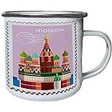 Nuevo Moscú Ruso Post Stamp Retro, lata, taza del esmalte 10oz/280ml l990e