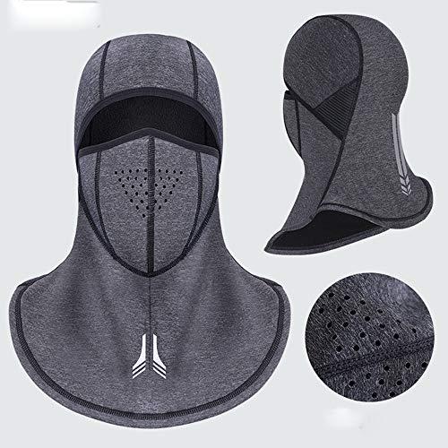 nstuch Gesichtsmaske,Winter-Gesichtsmaske-Ansatz Cap windundurchlässiges Radfahren Staubdichtes Maske Schwarz atmungsaktiv ()