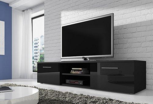 mueble-tv-soporte-vegas-150-cm-cuerpo-color-negro-mate-frentes-de-alto-brillo-negro