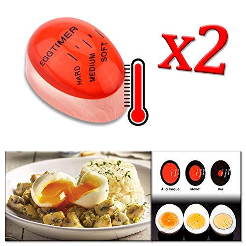 ADATECH 2 X Temporizzatore dell·uovo cambia colore. Cambia colore per cottura dell Uovo, Magic Egg