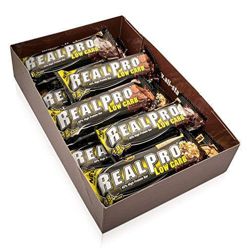 ALL STARS Real-Pro Low Carb Bar Mix Box (3 Sorten Mix) , 12 x 50g, 21g hochwertiges Protein, ideal für unterwegs (Mix Datum Bar)