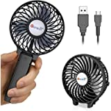 VersionTECH. Hand Held Fan,Portable Handheld USB Rechargeable Fans with 3 Speeds,Battery Operated Electric Powered Mini…