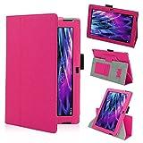 Tasche Hülle für Medion Lifetab S10366 S10365 S10346 Schutzhülle Tablet Cover Case Bag, Farben:Pink