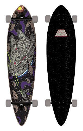 Santa Cruz Skateboard Longboard Star Wars Millenium Falcon Pintail, 9.5 x 39.0 Zoll, SANLOBSTWAMIFAPI