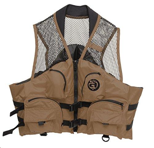 Airhead , aufblasbar Angeln Deluxe, Fishing Deluxe Adult Closed Side Vest, bark -