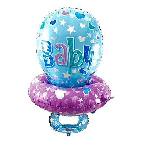 (Blesiya Große Baby Schnuller Folienballon 75 x 45 cm - Blau, 45 x 75 cm)
