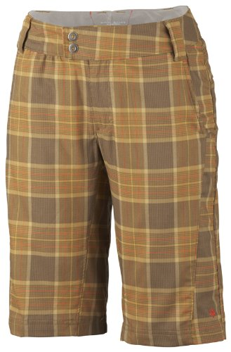 Columbia Stretch Shorts (Women'Columbia Damen Bluse Saturday Trail Plaid Short Stretch 12 cm S Braun - Trail)