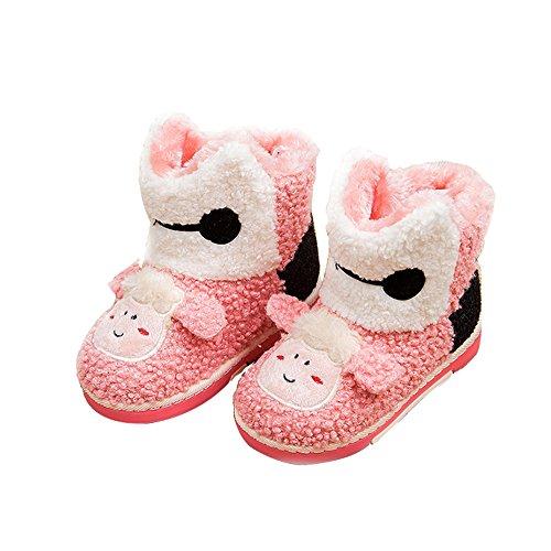 V. punto Bambini/bambini Natale Renna Inverno Caldo Morbido Stivali Pantofole (Renna) Pink Sheep