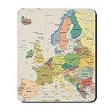CafePress–carte de l'Europe–en caoutchouc antidérapant Tapis de souris, Gaming Mouse Pad