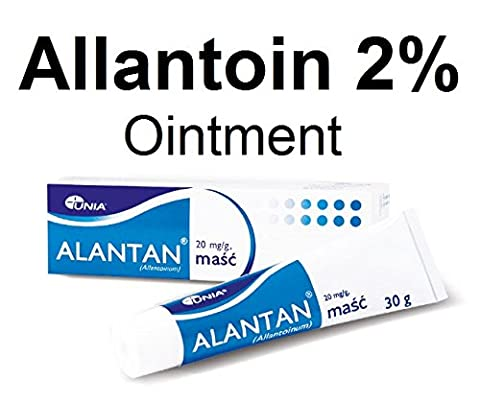 ALLANTOIN 2% Ointment 30g - Difficult to Heal Wounds Abrasions Cuts Ulcers - Intensive Skin Regeneration - Moisturizing Dry Rough Skin - Soothing Chronic Inflammatory Skin Atopic Dermatitis Psoriasis Seborrheic Dermatitis Eczema Keratosis Topical Skin Relief Treatment