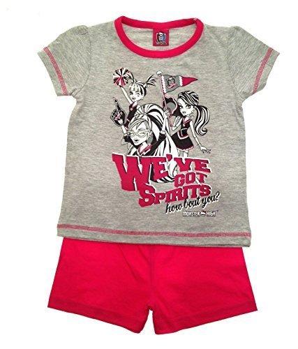 Kids Girls Pyjamas Official Mattel Monster High Short Pyjamas Pj's Set 2 Piece Size 3 to 4 Years