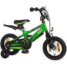 Bici da bambino Little Dax 12pollici Timmy, verde/nero con casco da 550LD 94