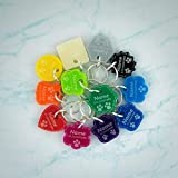 Cat Tags | Dog Tags | Personalised Pet ID | Engraved Acrylic | 12 Colours | 8 Shapes | 3 Size