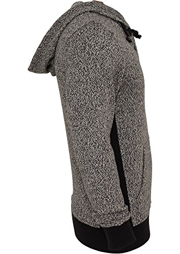 Urban Classics Melange Knitted Hoody Sweats à capu Grey