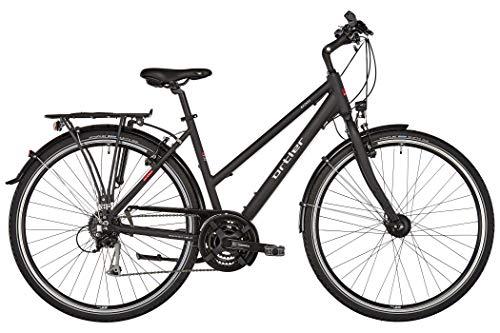 Ortler Mainau Damen schwarz matt Rahmenhöhe 48cm 2019 Trekkingrad