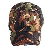 Ecotrumpuk Folding Camouflage 5 LED Light Hunting Fishing Hat Sports Baseball Caps