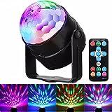 Discolicht Partylicht, GLISTENY LED Disco Licht Partybeleuchtung RGB Controller bunten Kristall Magic Ball Strobe Kristall rotierende Beleuchtung Fernbedienung für KTV Ballroom Home Club Hochzeit