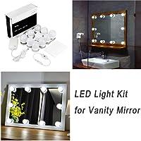 Luces LED Para Espejo WanEway, Estilo Hollywood, Kit De Luces Para Maquillaje Cosmético, Con Regulador De Intensidad Y Fuente De Poder, 4M, Espejo No Incluido