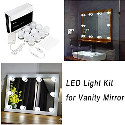 WanEway Hollywood Style LED Vanity Mirror Lights Kit for Makeup