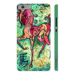 Micromax Canvas Knight 2 E471 CHINESE ZODIAC HORSE designer mobile hard shell case by Enthopia