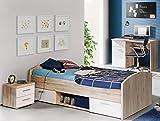 Jugendzimmer-Set mit Bett 90 x 200 cm Sandeiche