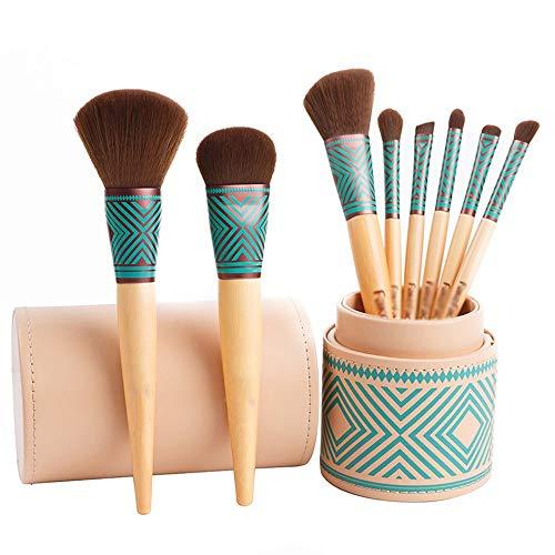 ZYFF huazhuangshua Make-up Pinsel Anfänger 8 Make-up Pinsel Set Tragbare Make-up Lidschatten Eimer Pinsel Set Bohemian Style Umweltschutz Bambus Eimer Pinsel Pinselsets -