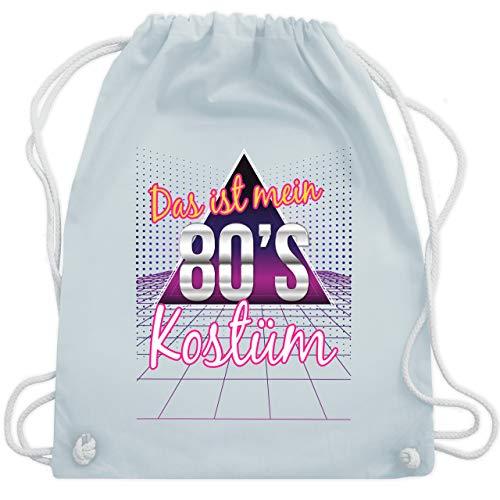 Karneval & Fasching - Das ist mein 80er Jahre Kostüm - Unisize - Pastell Blau - WM110 - Turnbeutel & Gym Bag