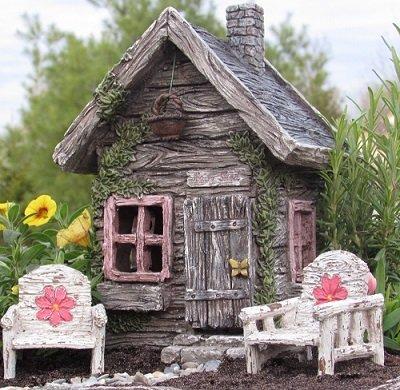 My Fairy Gardens Fairy, W/SWINGING Tür NEU Fairy House Fairy Cottage