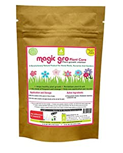 Magic gro Plant Care - Organic Plant Growth Promoter for Lawns/Terraces/Kitchen Gardens