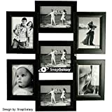 Snapgalaxy Seven Photo Collage Frame, Bl...