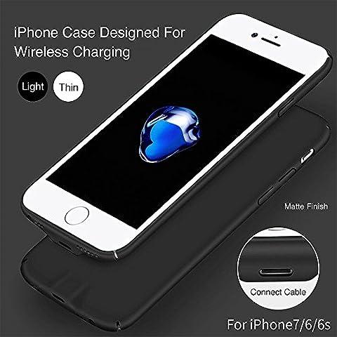 XLTOK Qi Charger Ricarica Ricevitore Cover Caricatore Wireless Compatibile con iPhone 7 /6s /6 - può Essere Caricata dal Cavo Senza Rimuovere ...