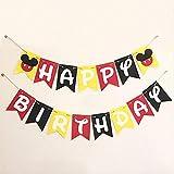 XYCC Party Topolino Tema Stoviglie Decorazioni per Feste di Compleanno per Bambini Good Friends Stoviglie Partito1pzPull Flag