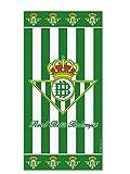 Secaneta 60040.000 - Toalla, 76 x 152 cm, terciopelo, estampada Escudo de Betis