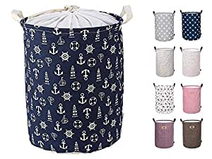 ABTRIX WITH AB Laundry Basket Canvas Washing Laundry Bag Hamper Storage Dirty Clothing Bags Toy Storage Bag Pets Laundry Bins, Sturdy Lightweight (54 L)