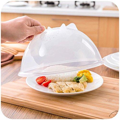 Microondas tapa para alimentos, xinxinyu Cubierta de alimentos Transparente Guard Vented Splatter pantalla anti-sputtering microondas Hover Cover