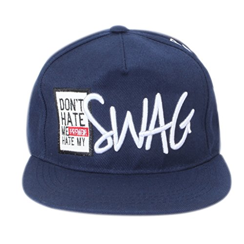 ILU Swag caps snapback caps hiphop caps baseball cap blue caps for man woman Boys Girls  available at amazon for Rs.540