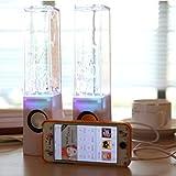 Die besten GENERIC Bass tragbare Lautsprecher - USB Lautsprecher Bass mit buntem LED-Wasserspiel Soundboxen für Bewertungen
