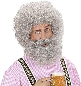 WIDMANN pe757?Peluca + barba bouclée?Talla única