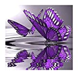 Twuky 5D DIY Diamond Set Full Diamond Diamond Painting Living Room Wall Stickers,butterfly(12X12inch/30X30CM)