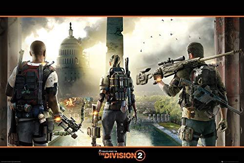 Preisvergleich Produktbild Tom Clancy's The Division 2 Poster Landscape (91, 5cm x 61cm) + 2 St. transparente Posterleisten mit Aufhängung