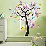 ivebetter niños habitación adhesivo decorativo para pared de búho árbol fondo Decor