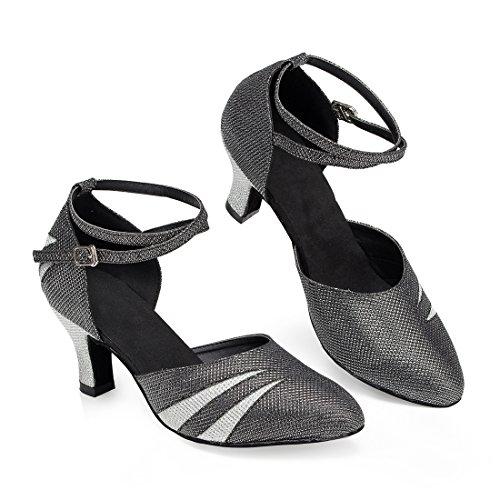 TDA ,  Damen Knöchel-Riemchen 6cm Heel Black