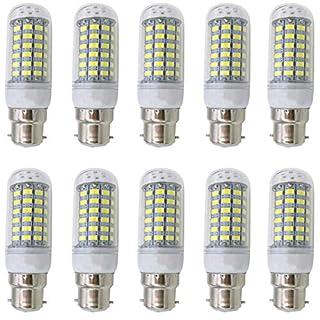 Aoxdi 10X B22 Bayonet LED Light Bulb 10W, Cool White, 69 SMD 5730 LED Corn Lamp Spotlight B22, AC220-240V