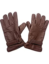 Handschuhe für Biker Lederhandschuhe gefüttert in braun