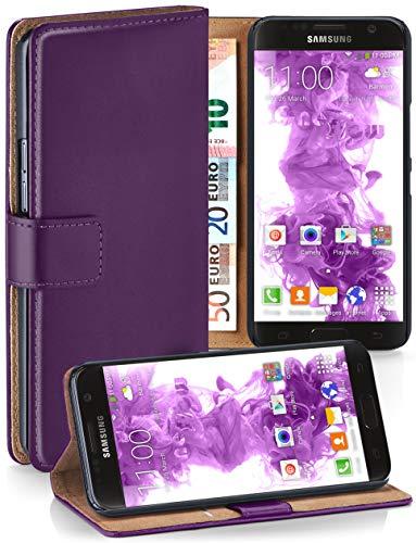 moex Booklet mit Flip Funktion [360 Grad Voll-Schutz] für Samsung Galaxy S7 | Geldfach und Kartenfach + Stand-Funktion und Magnet-Verschluss, Lila