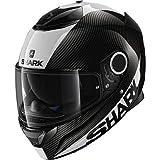 Shark Spartan Carbon skin DWS, casco da moto, nero/bianco, taglia M