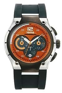 Yema - YA503 - Montre sport - Quartz chronographe - Bracelet en caoutchouc noir