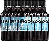 12er Paket - Puro Malbec Cabernet 2017 - Dieter Meier | trockener Rotwein | argentinischer Biowein aus Mendoza | 12 x 0,75 Liter