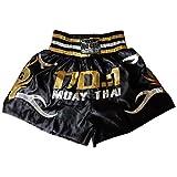Duo Gear Jungen Muay Thai Kickboxen Boxing Shorts XS schwarz